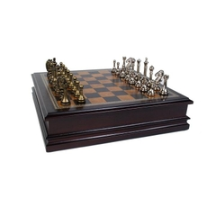 Bộ cờ vua cao cấp - Grace Chess Inlaid Wood Board Game with Metal Pieces