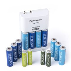 Bộ pin sạc Panasonic Eneloop 10 AA + 4 AAA Rechargeable Battery + Charger