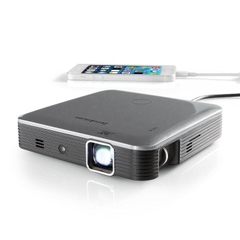 Máy chiếu mini HD dùng pin sạc Brookstone Pocket Projector Pro 200 lumens, built in Battery