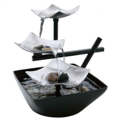Bộ phong thuỷ HoMedics WFL-SLVS Envirascape Silver Springs Illuminated Relaxation Fountain