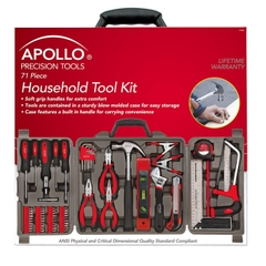 Bộ dụng cụ sửa chữa Apollo Precision Tools Household Tool Kit, 71 Piece