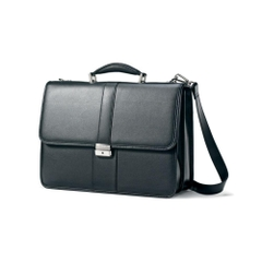 Túi xách cao cấp Samsonite Leather Flapover Business Case Black