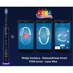 Bàn chải điện Philips Sonicare DiamondClean Smart Professional 9700  (Bluetooth) Lunar