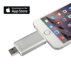USB cho iPhone, iPad: Omars 64GB Mobile Flash Drive with Lightning Connector