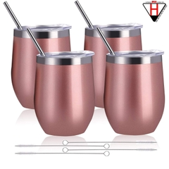 Bộ ly 4 cái giữ lạnh, Rabbit Double Wall Stainless Steel Wine Tumbler Set, 4-pack