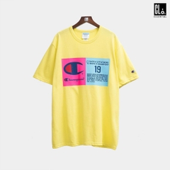 Champion, Heritage Tee, Pop Color Jock Tag - Journey Yellow
