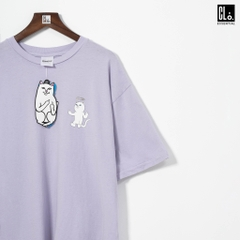 RIPNDIP, Halo T-Shirt /Purple Mineral Wash