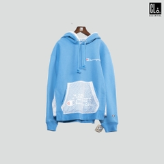 Champion, Reverse Weave Shift Pullover Hoodie - Active Blue/White