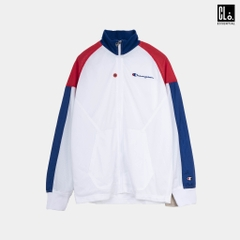 Champion LIFE, Mesh Crinkle Warm Up Jacket - White/Scarlet/Suft The Web