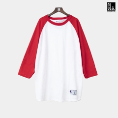Champion - Three-Quarter Raglan Sleeve Baseball T-Shirt White/Red
