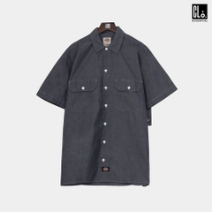 Dickies, Relaxed Fit Short Sleeve Chambray Shirt - Navy