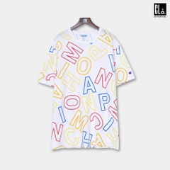 Champion, Heritage Tee, All Over Block Logo - White/Word Soup