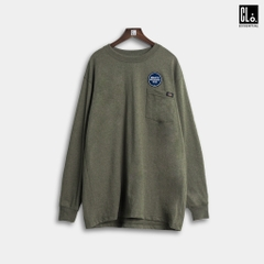 Dickies, Long Sleeve Heavyweight Crew Neck Shirt - Military Green