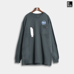 Dickies, Long Sleeve Heavyweight Crew Neck Shirt - Hunter Green
