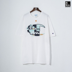 Champion LIFE, Heritage ''C'' Patchwork T-Shirt/ White