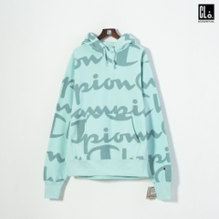 Champion, RW Giant AO Script Pullover Hoodie/ Waterfall Green