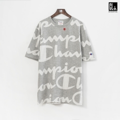 Champion LIFE, Heritage Giant All Over Script T-Shirt /Oxfort Grey