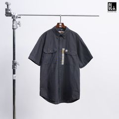 CARHARTT, ORIGINAL FIT MIDWEIGHT SHORT-SLEEVE BUTTON-FRONT SHIRT - Black Champray