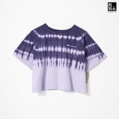 Champion Women's, Streak Dye Cropped T-Shirt /Pale Violet Rose