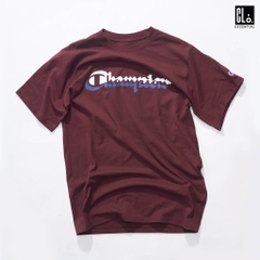 Champion Men's Classic Tee, Multi-Shadow Logo/ Maroon