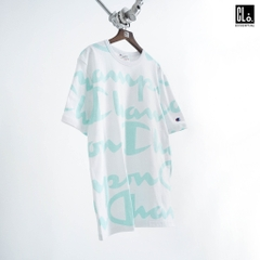 Champion LIFE, Heritage Giant AO Script T-Shirt - White/Waterfall