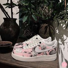 [AO1017-102] W NIKE AIR FORCE 1 '07 LXX PINK FLORAL