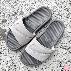 [AQ8651-001] W NIKE BENASSI JDI LEATHER VAST GREY/GUNSMOKE