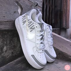 [BQ5484-100] K NIKE AIR FORCE 1 LV8 2 WHITE SILVER