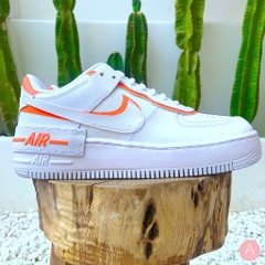[CI0919-103] WMNS NIKE AIR FORCE 1 SHADOW WHITE TOTAL ORANGE