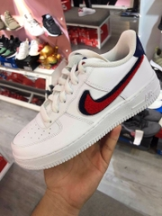 [AQ3620-101] K NIKE AIR FORCE 1 SWOOSH RED BLUE