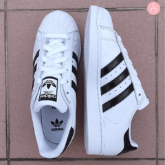 [FU7099] K ADIDAS SUPERSTAR WHITE BLACK
