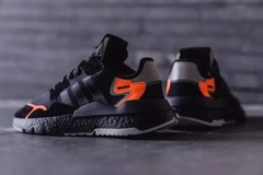 [CG7088] M ADIDAS NITE JOGGER CORE BLACK ORANGE