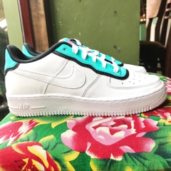 [BV1084-100] K NIKE AIR FORCE 1 DOUBLE-CITY GEAR WHITE LIGHT AQUA
