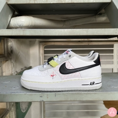 [DC2532-100] K NIKE AIR FORCE 1 LV8 WHITE PHOTON DUST/LIME LIGHT