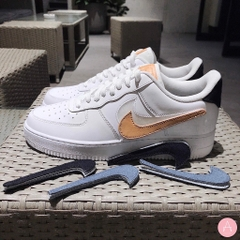 [CT2253-100] M NIKE AIR FORCE 1 LOW CHANGE SWOOSH WHITE VACHETTA TAN