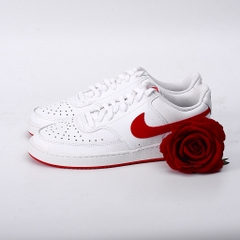 [CD5463-102] M NIKE COURT VISION LOW WHITE/UNIVERSITY RED