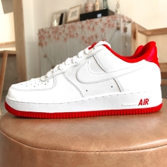 [CD6915-101] K NIKE AIR FORCE 1-1 WHITE UNIVERSITY RED