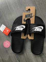 [343881-011] W NIKE BENASSI JDI BLACK POLISHED