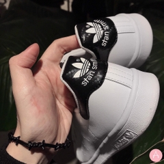 [EG0383] K ADIDAS STAN SMITH BLACK WHITE