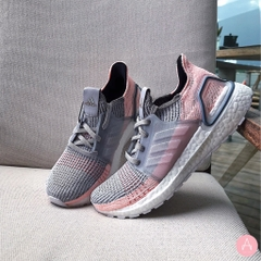 [B75881] W ADIDAS ULTRABOOST 19 GREY TWO CLEAR ORANGE PINK