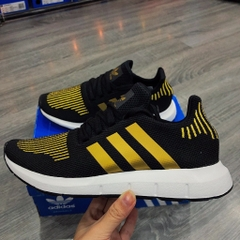 [CG4145] W ADIDAS SWIFT RUN BLACK GOLD