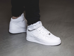 [315123-111] M NIKE AIR FORCE 1 MID ALL WHITE