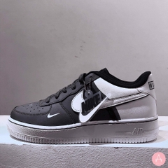 [CI1756-002] K NIKE AIR FORCE 1 GREY WHITE