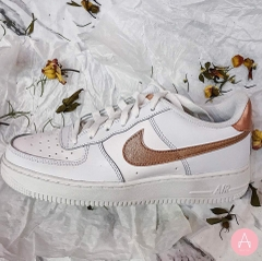 [314219-129] K NIKE AIR FORCE 1 ROSE GOLD