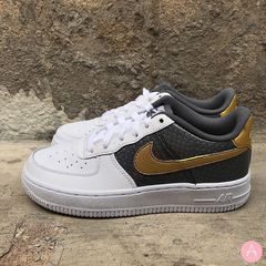 [CI3910-100] K NIKE AIR FORCE 1 SE BABY DRAGON GOLD GREY