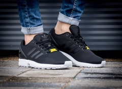 [M21294] K ADIDAS ZX FLUX BLACK WHITE
