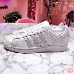 [CQ2702] K ADIDAS SUPERSTAR GLOSSY TOE WHITE SILVER