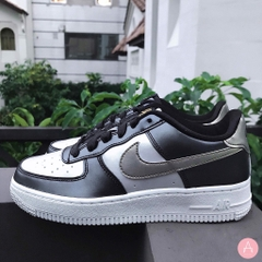 [849345-003] K NIKE AIR FORCE 1 LV8 METALLIC COOL GREY