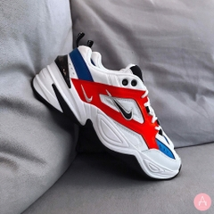 [AV4789-100] M NIKE M2K TEKNO WHITE NAVY ORANGE