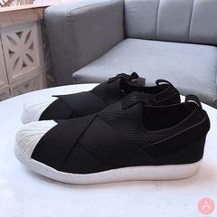 [B37193] W ADIDAS SUPERSTAR SLIP ON BLACK WHITE